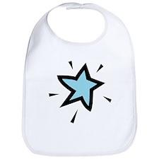 Baby Blue Star Bib