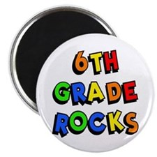 6th Grade Rocks Magnet