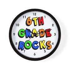 6th Grade Rocks Wall Clock
