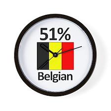 51% Belgian Wall Clock