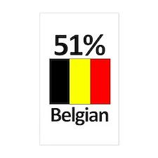 51% Belgian Rectangle Decal