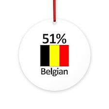 51% Belgian Ornament (Round)