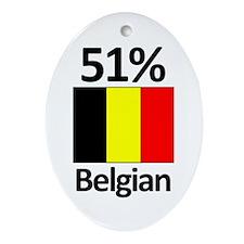 51% Belgian Oval Ornament