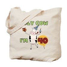 Cow 40th Birthday Tote Bag