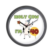 Cow 40th Birthday Wall Clock