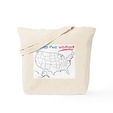 States I've Visited Tote Bag