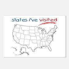 States I've Visited Postcards (Package of 8)