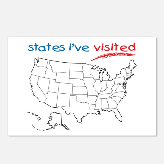 States I've Visited Postcards (Package of 8)