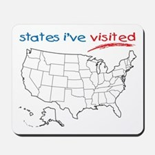 States I've Visited Mousepad