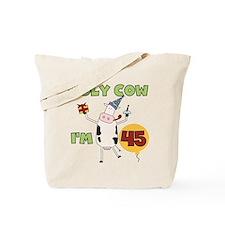 Cow 45th Birthday Tote Bag