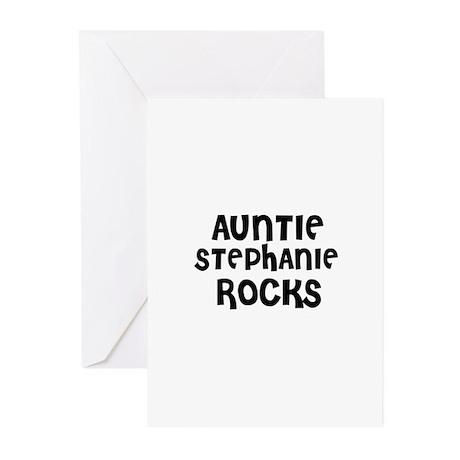 AUNTIE STEPHANIE ROCKS Greeting Cards (Package of