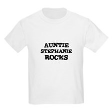 AUNTIE STEPHANIE ROCKS Kids T-Shirt