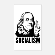 Franklin F Socialism Rectangle Decal