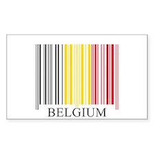 Barcode Belgium Flag Rectangle Decal