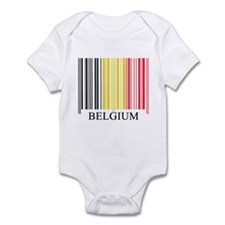 Barcode Belgium Flag Infant Bodysuit