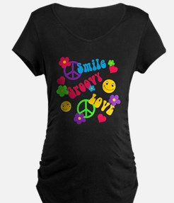 Smile Groovy Love Peace T-Shirt