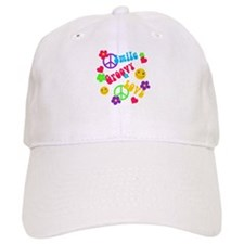 Smile Groovy Love Peace Baseball Cap