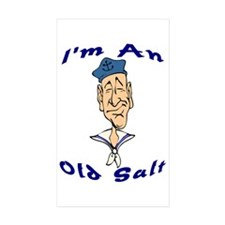 """I'm An Old Salt"" Rectangle Sticker 10 pk)"
