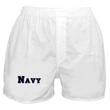 """Navy Blue"" Boxer Shorts"