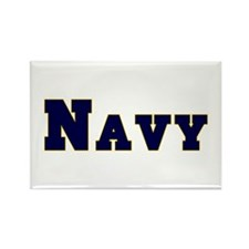 """Navy Blue"" Rectangle Magnet"