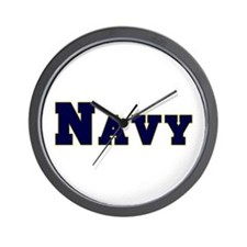 """Navy Blue"" Wall Clock"