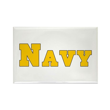 """Navy Gold"" Rectangle Magnet"