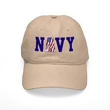 """Navy Bold"" Baseball Cap"