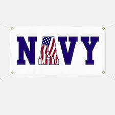 """Navy Bold"" Banner"