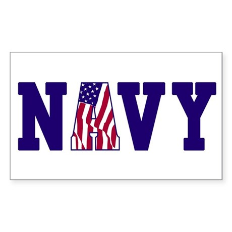 """Navy Bold"" Rectangle Sticker"
