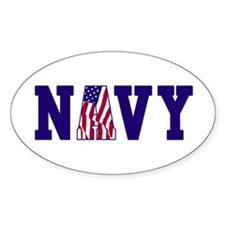 """Navy Bold"" Oval Decal"