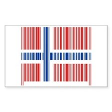 Barcode Norway Flag Rectangle Decal