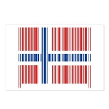 Barcode Norway Flag Postcards (Package of 8)