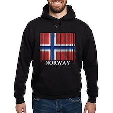 Barcode Norway Flag Hoodie