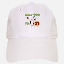 Cow 21st Birthday Baseball Baseball Cap