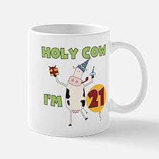 Cow 21st Birthday Mug