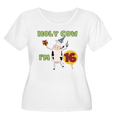 Cow 16th Birthday Women's Plus Size Scoop Neck T-S