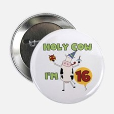 "Cow 16th Birthday 2.25"" Button"
