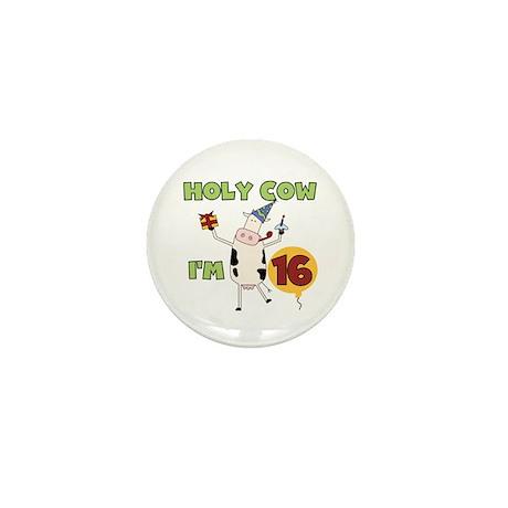 Cow 16th Birthday Mini Button