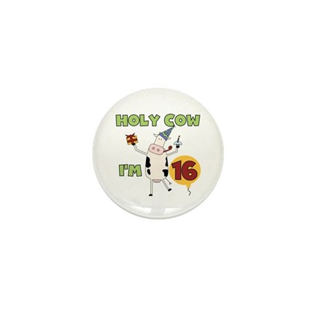 Cow 16th Birthday Mini Button (10 pack)