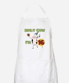 Cow 16th Birthday BBQ Apron
