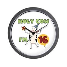 Cow 16th Birthday Wall Clock