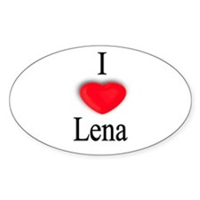 Lena Oval Decal