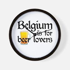 Belgium is for Beer Lovers Wall Clock