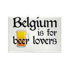 Belgium is for Beer Lovers Rectangle Magnet