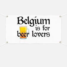 Belgium is for Beer Lovers Banner