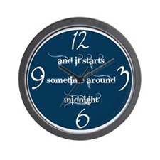 Sometime Around Midnight Wall Clock