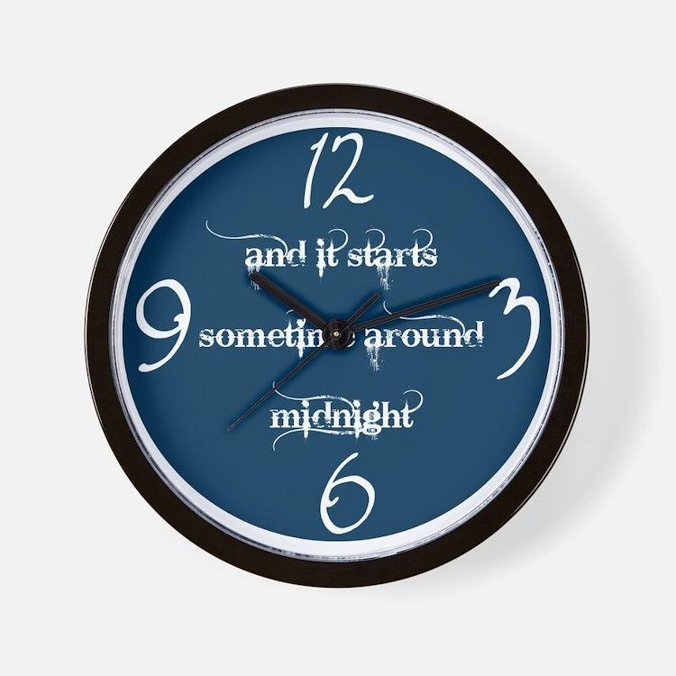 Sometime Around Midnight Wall Clock