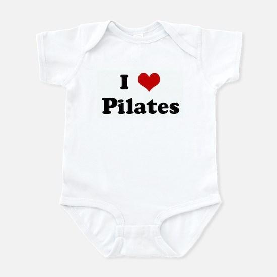 I Love Pilates Infant Bodysuit