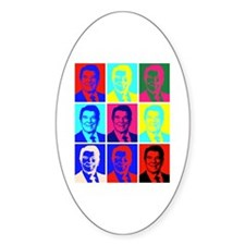 Reagan Portraits Oval Decal
