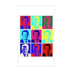 Reagan Portraits Rectangle Decal